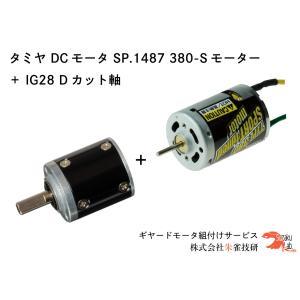 タミヤ OP.1393 380 スポーツチューンモーター + IG28 1/721 Dカット軸 オールメタル仕様 suzakulab