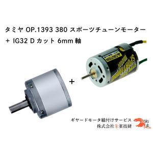 タミヤ OP.1393 380 スポーツチューンモーター + IG32 1/100 Dカット 6mm軸|suzakulab