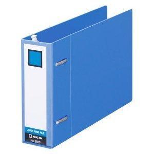 アウトレット キングジム KING JIM レバーリングファイル Dタイプ B6 ヨコ型 3823 青 B6-E/2穴 新品未使用ですが中古扱い|suzion-line