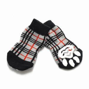 ゆうパケット送料無料 ドッグウェア チェックソックス (犬用靴下)|suzion-line