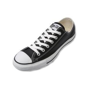 コンバース レザー オールスター ローカット CONVERSE LEA ALL STAR OX BLK ブラック メンズ レディース スニーカー|suzuchu-footwear
