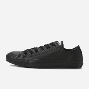 コンバース レザー オールスター ローカット CONVERSE LEA ALL STAR OX BKM ブラックモノクローム メンズ レディース スニーカー|suzuchu-footwear