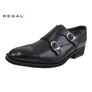 リーガル 靴 メンズ 正規品 ゴアテックス REGAL  37HR BLK ブラック  ダブルモンク 防水 紳士靴 suzuchu-footwear