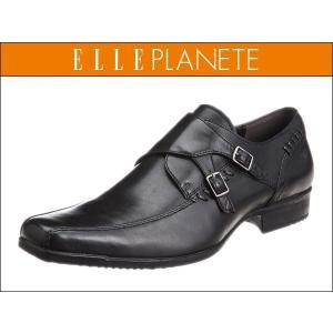 マドラス エル プラネット  ELLE PLANETE PT5035 BLK ブラック ダブルモンク  メンズ ビジネスシューズ|suzuchu-footwear