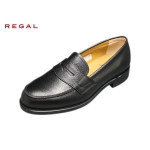 リーガル 正規品 靴 メンズ ローファー REGAL JJ16 AL SCBK スコッチブラック 型押し加工|suzuchu-footwear