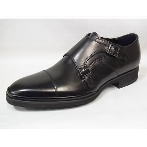 ケンフォード 正規品 ダブルモンクストラップ KENFORD KN69 AEJ BLK ブラック 3E リーガル 軽量 紳士靴 suzuchu-footwear