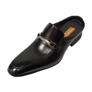 オフィスサンダル ラスアンドフリス LASSU&FRISS 916 BLK ブラック ビット 本革 ビジネスサンダル|suzuchu-footwear