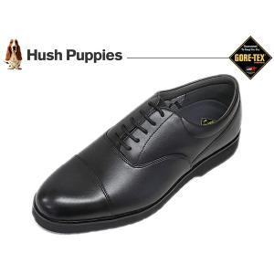 ハッシュパピー ビジネスシューズ HUSH PUPPIES M955 BLK ブラック 3E ストレートチップ ゴアテックス suzuchu-footwear