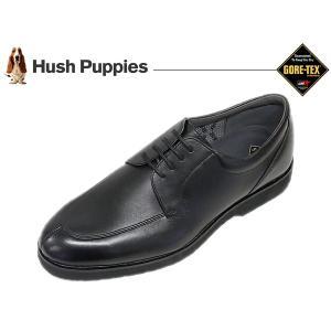 ハッシュパピー ビジネスシューズ HUSH PUPPIES M957 BLK ブラック 3E Uチップ ゴアテックス suzuchu-footwear