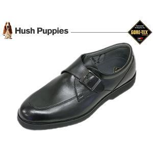 ハッシュパピー ビジネスシューズ HUSH PUPPIES M958 BLK ブラック 3E  Uモンク  ゴアテックス suzuchu-footwear