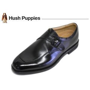 ハッシュパピー ビジネスシューズ Uモンク Hush Puppies M-0249NA BLK ブラック 4E 日本製 suzuchu-footwear