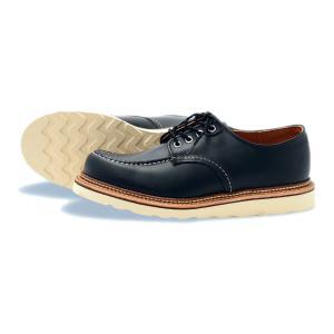 レッドウィング ブーツ ワーク オックスフォード REDWING 8106 Work oxford Black Chrome ブラッククローム|suzuchu-footwear