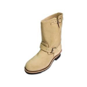 レッドウィング エンジニアブーツ 8268 REDWING 8268 ENGINEER BOOTS Hawthorne Abilene Roughout ラフアウト ベージュ suzuchu-footwear