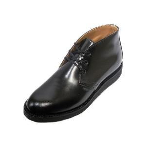 レッドウィング ポストマン チャッカ ブーツ REDWING 9196 POSTMAN CHUKKA BLACK ブラック|suzuchu-footwear