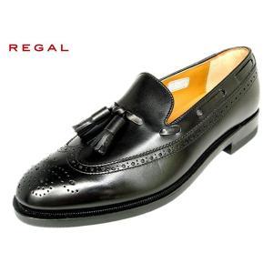 リーガル 靴 メンズ ウィングタッセル REGAL JE03 AH BLK ブラック|suzuchu-footwear