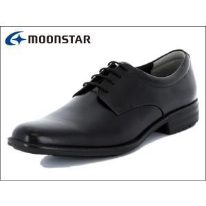 ムーンスター バランスワークス MOONSTAR BALANCE WORKS SPH4600 BLK ブラック プレーントゥ メンズ ビジネスシューズ|suzuchu-footwear