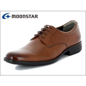 ムーンスター バランスワークス MOONSTAR BALANCE WORKS SPH4600 BR ブラウン プレーントゥ メンズ ビジネスシューズ|suzuchu-footwear