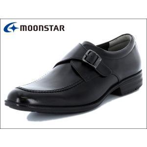 ムーンスター バランスワークス MOONSTAR BALANCE WORKS SPH4602 BLK ブラック モンクストラップ メンズ ビジネスシューズ|suzuchu-footwear