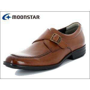 ムーンスター バランスワークス MOONSTAR BALANCE WORKS SPH4602 BR ブラウン モンクストラップ メンズ ビジネスシューズ|suzuchu-footwear