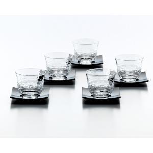 冷茶グラス 茶たく付5客セット 夏景色 冷茶セット|suzuhiro-2