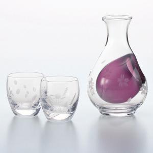 とっくりとおちょこ 酒グラスコレクション 花のきりこ 冷酒セット 切子 雪月花
