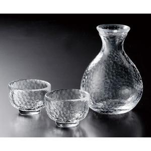 酒器 徳利と盃のセット 耐熱ガラス 江戸硝子かまくら KK-6139-29 |suzuhiro-2