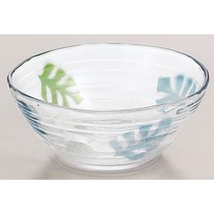 鉢 モンステラ柄ガラスの中鉢 3個入り  |suzuhiro-2