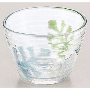 鉢 モンステラ柄 ガラスつゆ鉢 3個入り|suzuhiro-2