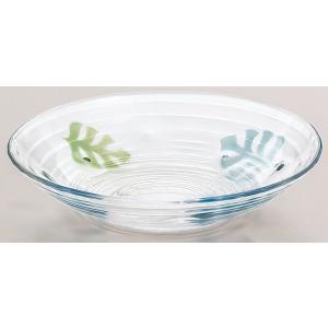 めん皿 モンステラ柄ガラスの皿  3枚入り  |suzuhiro-2