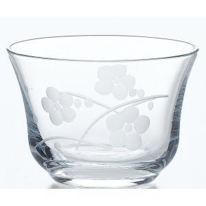 コップ 冷茶グラス 絵ごよみ 切子冷茶ぐらす 梅柄 185ml 3個入り|suzuhiro-2