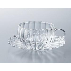 カップとソーサー 耐熱ガラス ティーフォーツー ウェーブ |suzuhiro-2