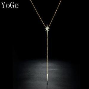 商品名:CZダイヤモンド ロングネックレス パヴェ キラキラ スターモチーフ 上品シンプルデザイン ...