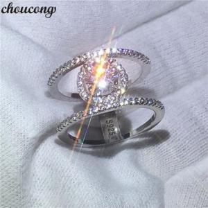 レディース AAAAAクラス 高級CZダイヤモンドリング 幅広デザイン キュービックジルコニア指輪 ...