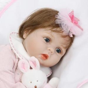 545c79b2cc5b8 リボーンドール 赤ちゃん人形 ベビー人形 ベビードール 海外ドール リアル ハンドメイド 高級 衣装付き うさぎさんと女の子