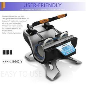 商品名:マグカップ印刷機 マグカッププリントマシーン 転写機 マグカップにプリント 伝熱プレス  ※...