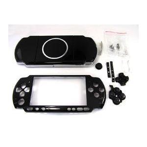 PSP-3000対応外装シェルケース・フェイスプレートセット ブラック     |suzukiag