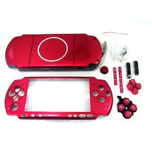 PSP-3000対応外装シェルケース・フェイスプレートセット レッド     |suzukiag