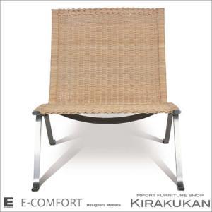 【商品名】PK22:イージーチェアー:ラタン  【デザイナー】ポール・ケアホルム   【サイズ】W6...