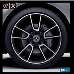 Cクラス(セダン、ステーションワゴン) AMG19インチ アルミホイール(5ツインスポーク) ベンツ純正部品 DBA DAA LDA CBA パーツ オプション|suzukimotors-dop-net