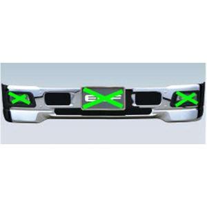 エルフ エアダムバンパー ホワイト(フォグランプ対応) ※標準キャブ いすゞ純正部品 FR6AA FR6AAS〜 パーツ オプション|suzukimotors-dop-net