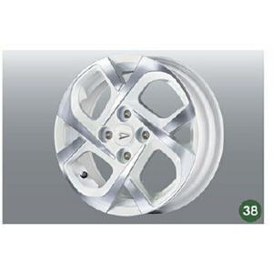 タント アルミホイール(14インチ・クロス4本スポーク・ダークブルークリアタイプ) ダイハツ純正部品 la650s la660s  パーツ オプション|suzukimotors-dop-net