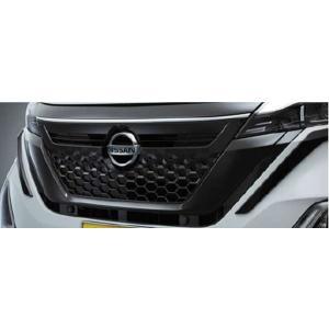 ルークス ブラックグリルフィニッシャー(ハイウェイスター用、ブラック塗装)  日産純正部品 sm21 パーツ オプション|suzukimotors-dop-net