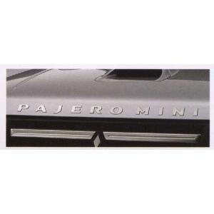 pajm011 パジェロミニ エンジンフードロゴステッカー  三菱純正部品 パーツ オプション suzukimotors-dop-net