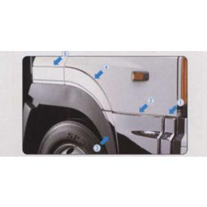 写真の1と2のみ プロフィア メッキドアアンダーパネルセットno.(1)(2)  日野純正部品 パーツ オプション|suzukimotors-dop-net