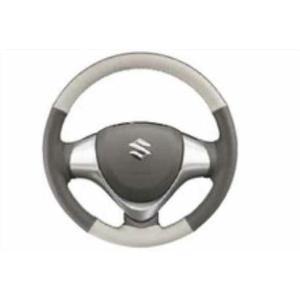 エブリイワゴン DA17W 本革ステアリングホイールカバー 2トーン(グレー/ホワイト) スズキ 純正 部品 パーツ 99000-99034-T60|suzukimotors2