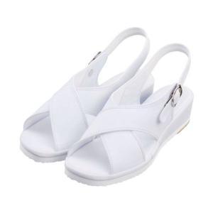 ナースシューズ 足の形にフィットする波形で長時間の立ち仕事に最適!!疲れにくい白(ホワイト)人気のサンダル suzukiseni