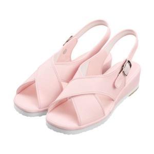 ナースシューズ 足の形にフィットする波形で長時間の立ち仕事に最適!!疲れにくいピンクのサンダル suzukiseni