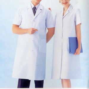 白衣 男性 半袖 シングル型診察衣 薬局衣 MR118|suzukiseni