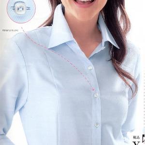 事務服 ブラウス 透けない 七分袖 プリンセスラインが美しいシルエットを作り出すシャツ 制服|suzukiseni