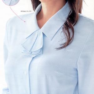 事務服 ブラウス シャツ リボン付3色展開 制服おすすめ|suzukiseni